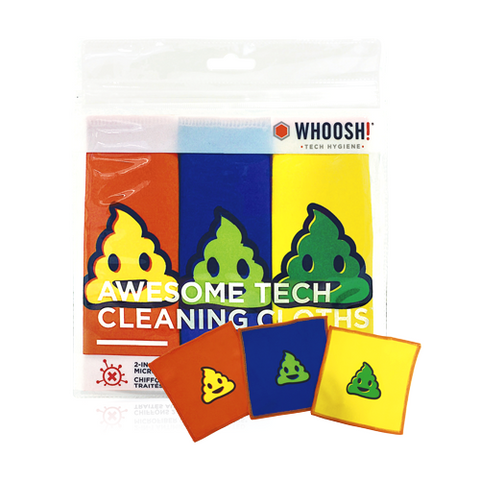 Whoosh Tech Cleaning Cloths, 3 Pack