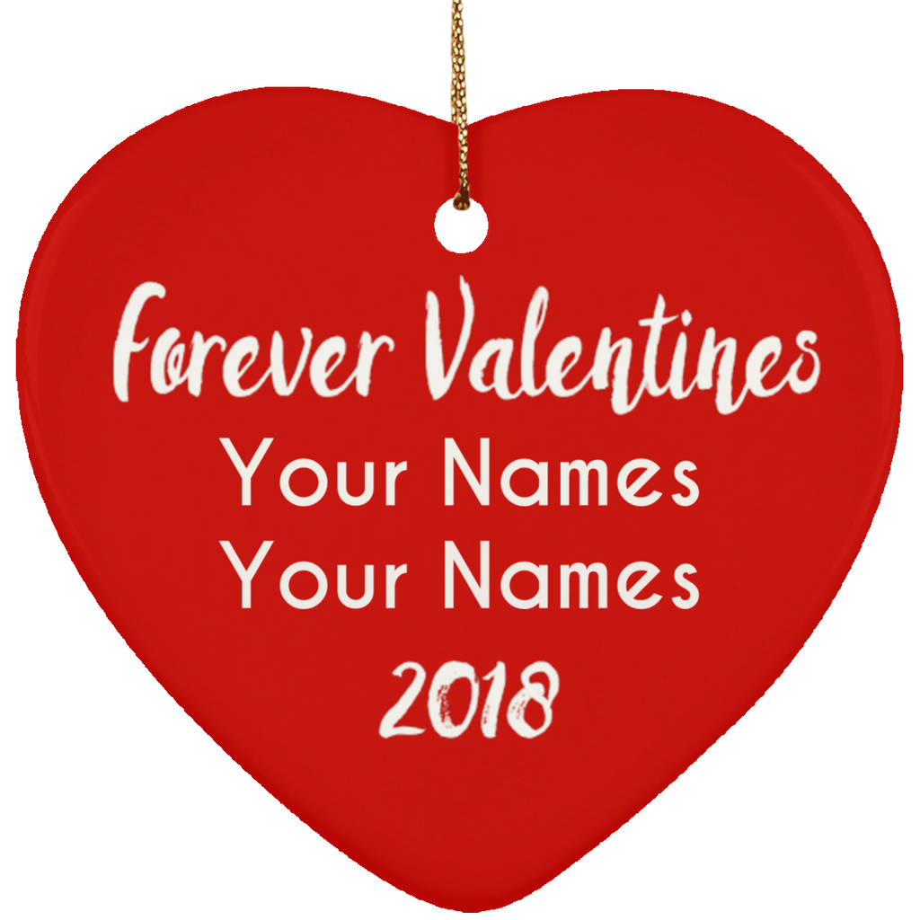 Personalized Ceramic Valentines Heart