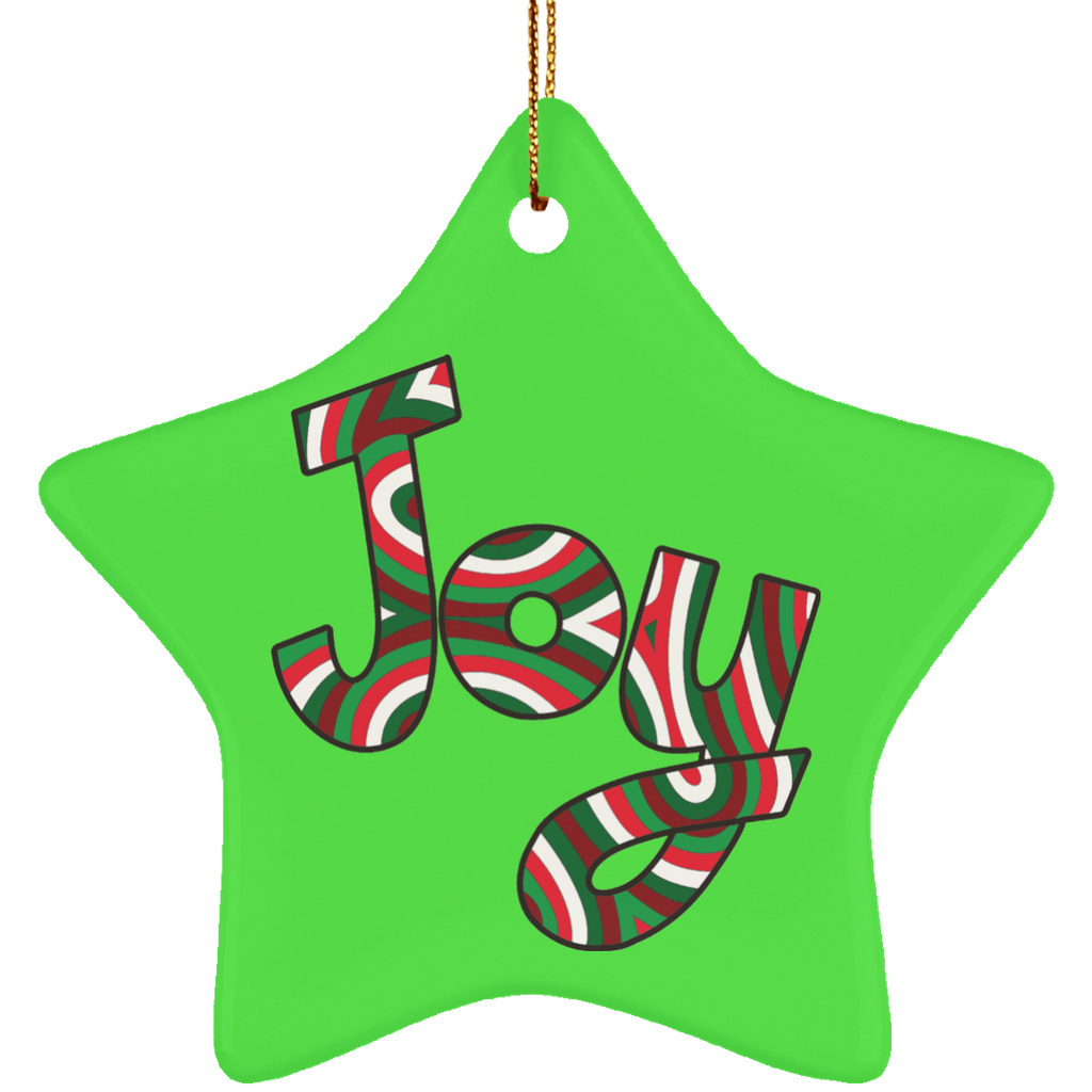 Joy Ceramic Ornament Comfort & Joy - Star