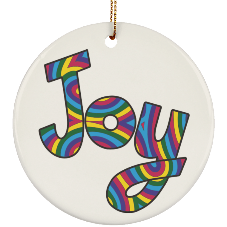 Joy Ceramic Ornament Stacy - Round