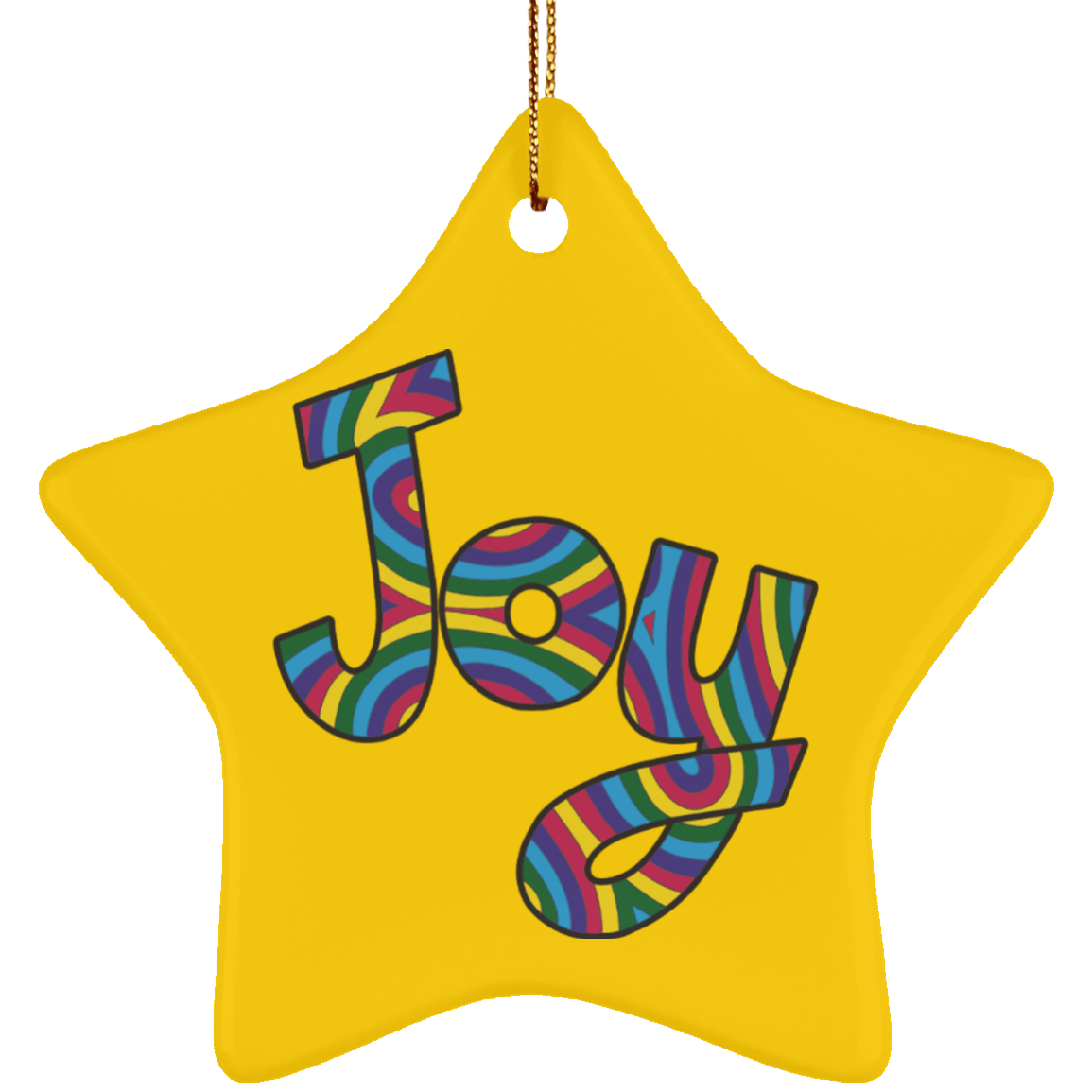 Joy Ceramic Ornament Stacy - Star