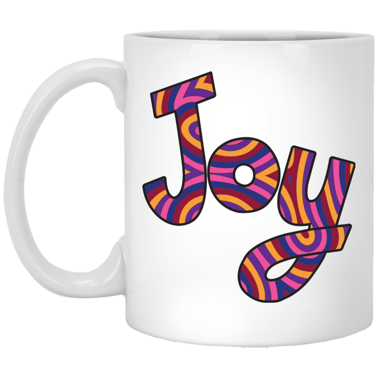 "Joy ""Hot Socks""  11 oz. White Coffee Mug"
