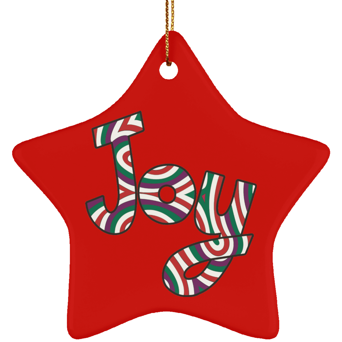 Joy Ceramic Ornament Good Tidings - Star