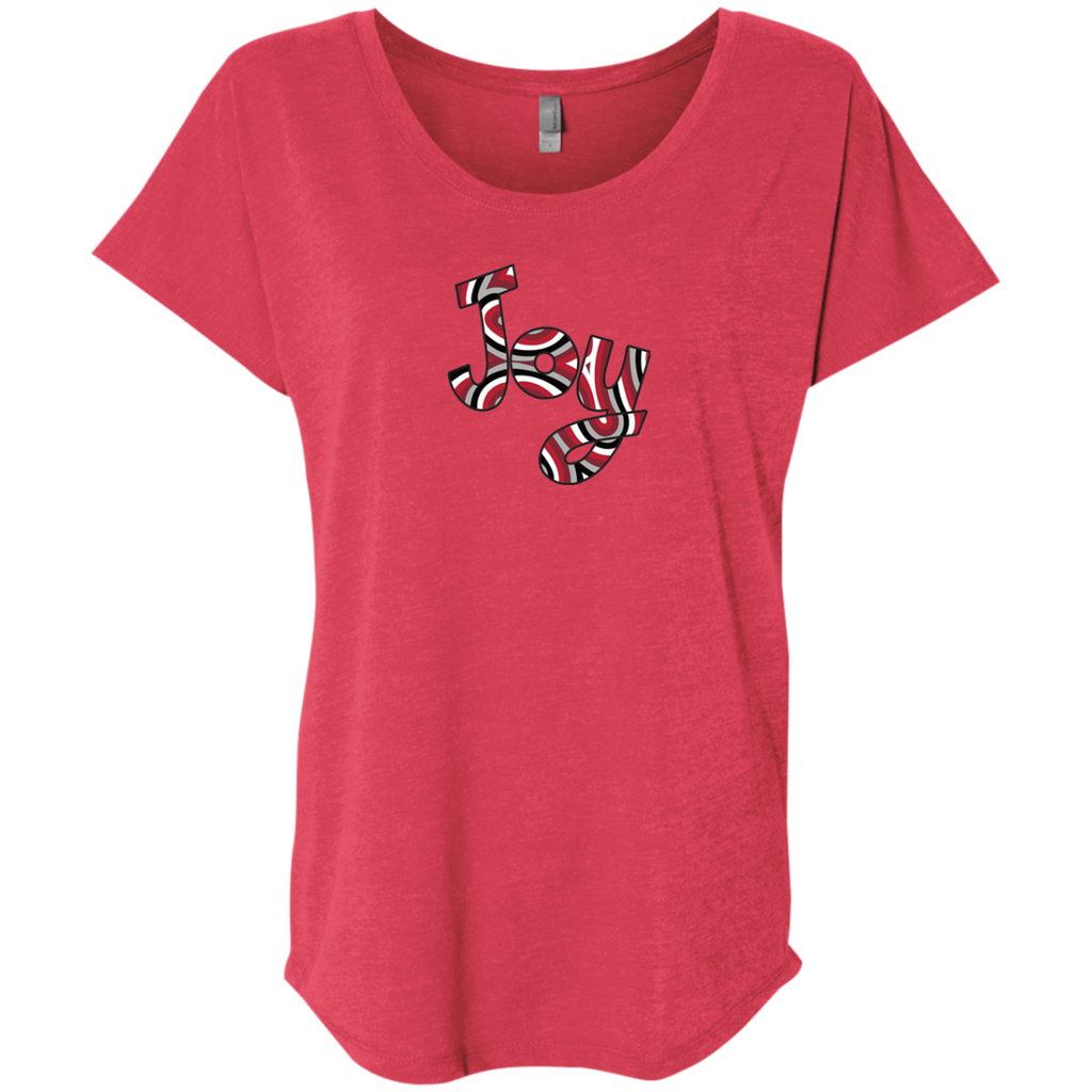 Joy & Gratitude Ladies Triblend Dolman Sleeve T-Shirt