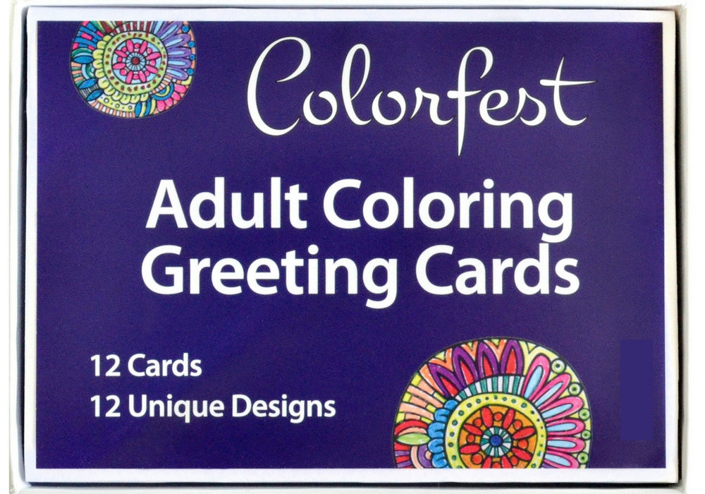 Colorfest Coloring Greeting Cards