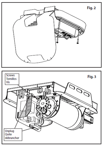 36428R.S Motor Drive Board replacement instructions figure 2 and 3
