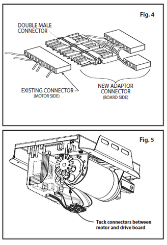 36428R.S Motor Drive Board replacement instructions figure 4 and 5