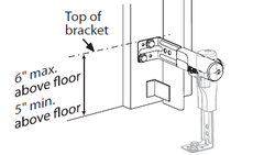 Installation of Safe-T-Beams for Genie garage door openers Height instructions