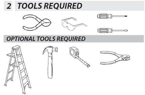 Genie Series III Wall Console Tools Required for Installation