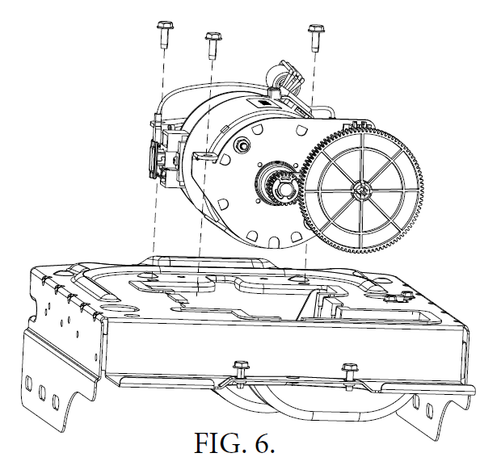 Genie DC screw drive motor replacement instructions, figure 6