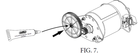 Genie DC Screw drive motor 38631A.S replacement instructions, figure 7