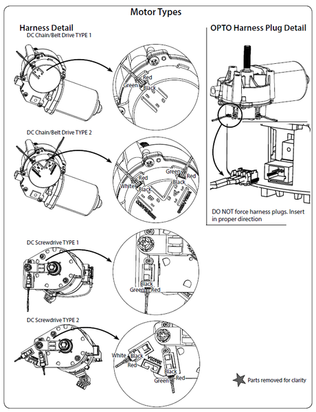 Genie motor type images for replacement circuit boards