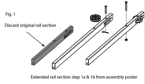 39027R Genie Chain rail extension kit installation instructions