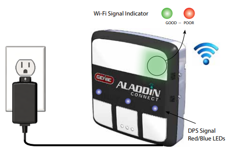 Installing Aladdin Connect step 3 wifi set up