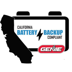 Genie garage door opener with battery backup is California Law Compliant