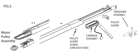 Image of replacement 8-Foot chain instructions for Genie garage door opener