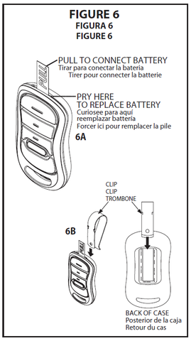 GIRUD-1T instructions figure 6 battery- visor clip installation
