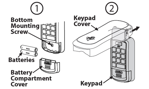 Genie wireless keypad cover replacement instructions