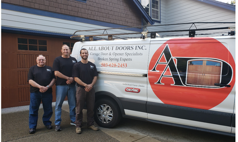 Trevor Nix of All About Doors based in Oregon, pictured along with his dad and grandfather