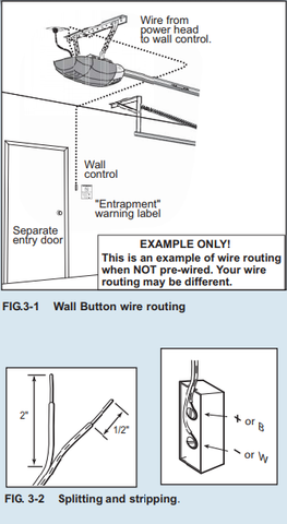 Image of the Genie universal push button installation instructions