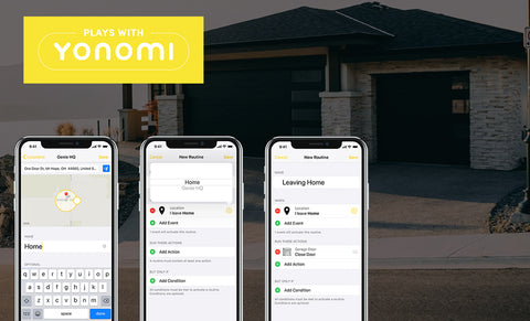 Genie aladdin connect works with yonomi and geofencing