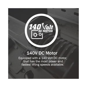 140-Volt motor on the MachForce Screw drive garage door opener