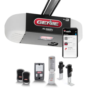 Genie Chain Glide Connect Smart garage door opener comes with all the accessories you need for the garage