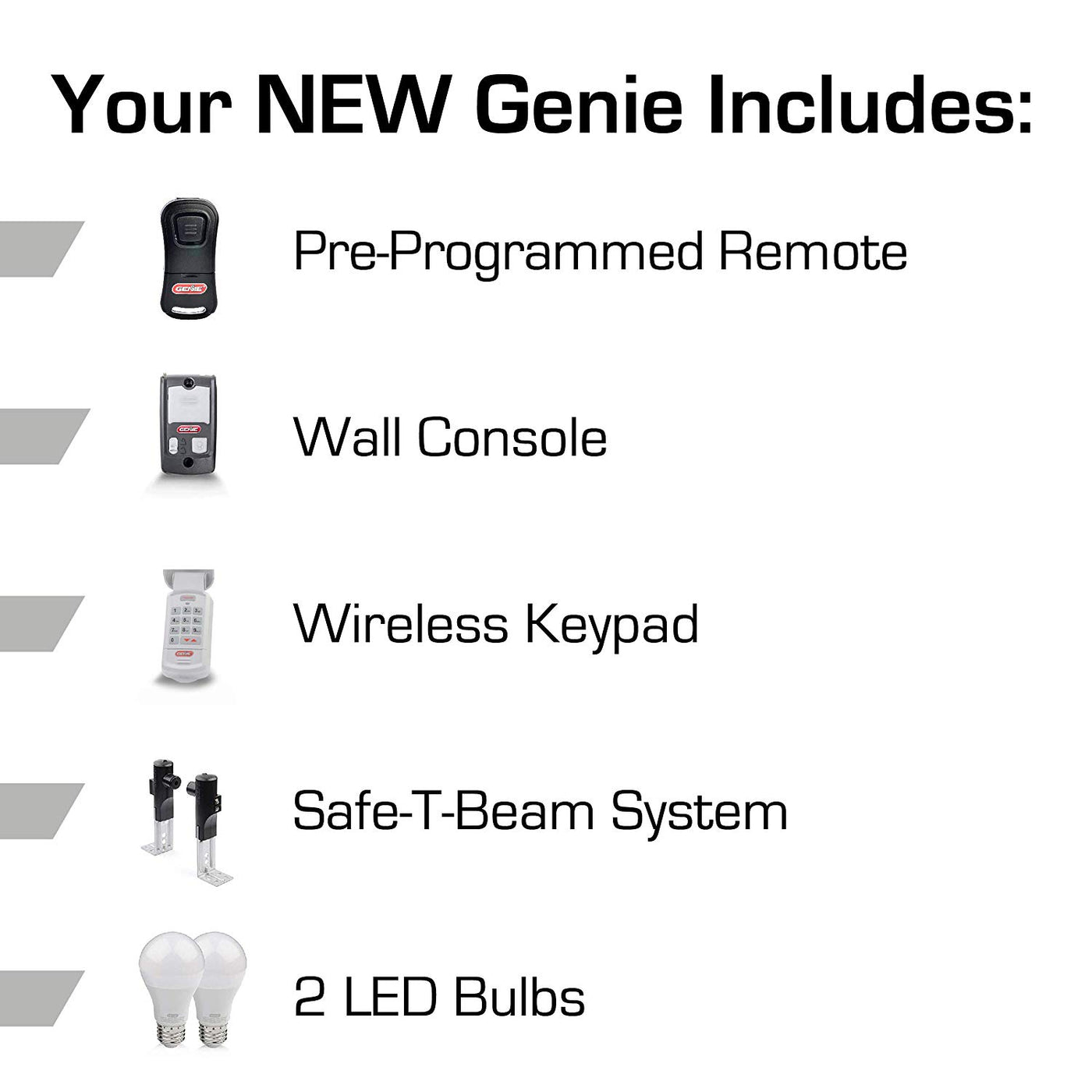 Stealth 500 Essentials Led Bulbs Included Ultra Quiet Belt Drive Gar The Genie Company