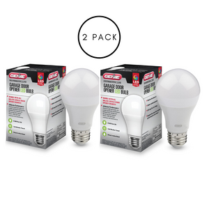 LED light bulbs for the garage door opener, reduces interference