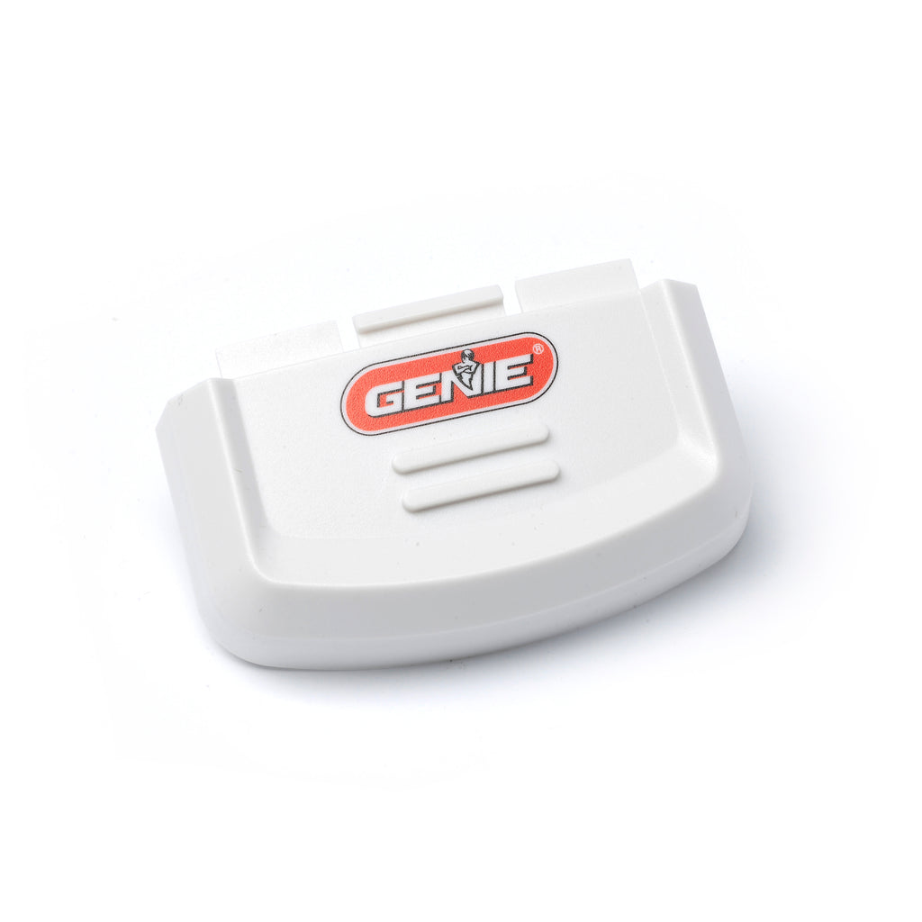 Genie GK-R wireless keypad battery cover. Covers the battery compartment on the wireless keypad.