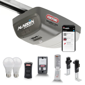 SilentMax 1200 Essentials- 3/4 HPc Belt Drive Garage Door Opener -Plus Aladdin Connect Smart Upgrade and LED Bulbs