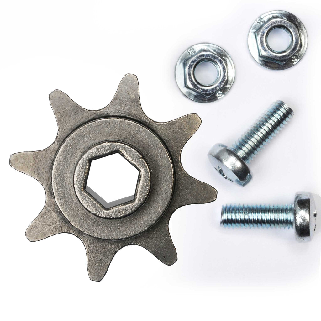 8 Tooth Chain Sprocket Compatible with Genie Model garage door openers: 1022, 1024, 2022, 2022-700, 2024 (with chain rails)