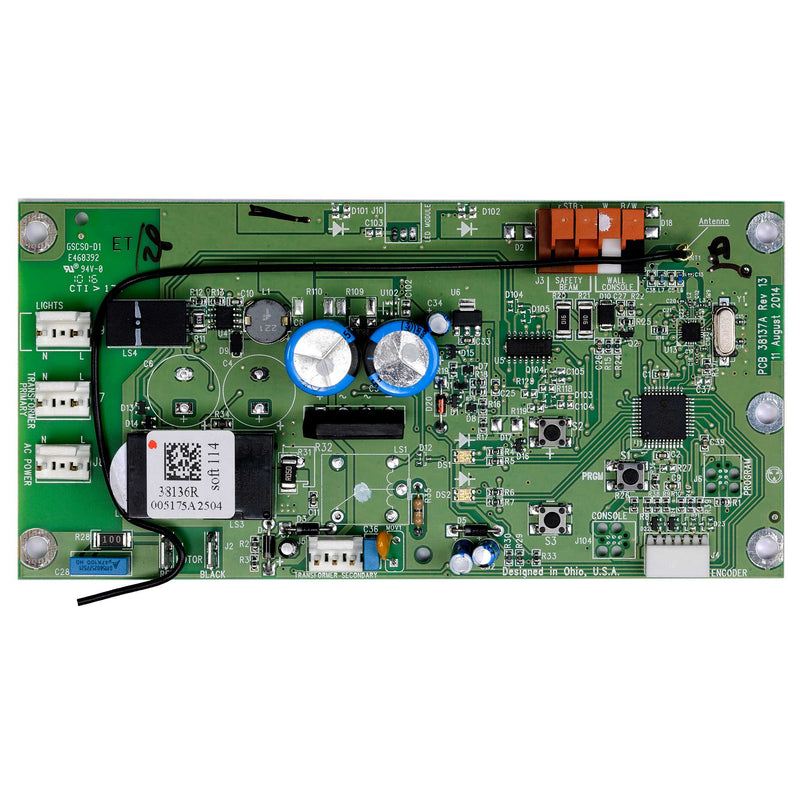 Circuit Board Assembly 38647R.S Compatible with Genie garage door opener model 1028