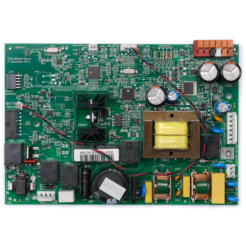 Circuit Board Assembly 38874R3.S Compatible with Genie garage door opener models 3022, 3042, 3024, 3024H