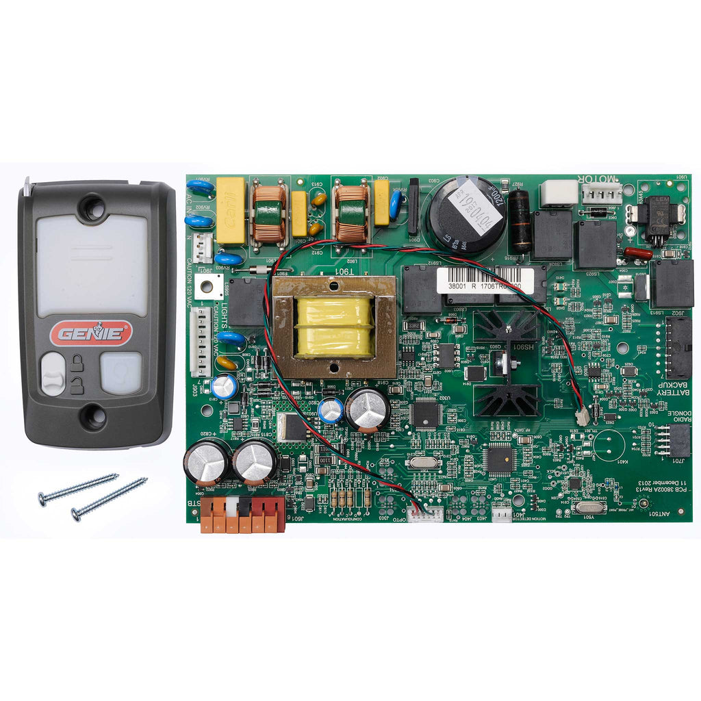 Circuit Board / Series II Wall Console Bundle 38875R1.S Compatible with Genie garage door opener models 3062, 3064