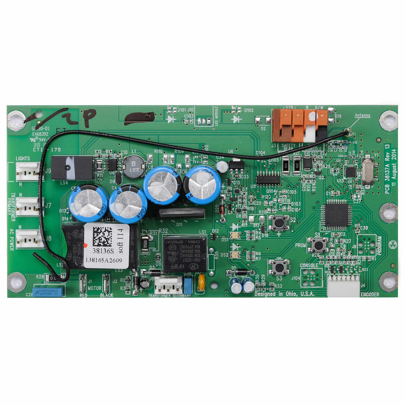 Genie Circuit Board Assembly 39340rs The Company Compatible With Garage Door Opener Models 2035 2036