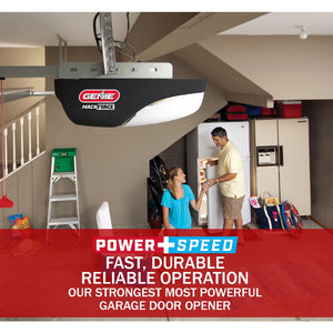 The Genie MachForce Plus XL garage door opener is made for fast, durable and reliable operation
