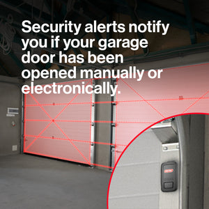 Aladdin Connect Smart garage door controller notifies you if your garage door has been opened on your smart device