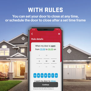 Smart garage door opener control with rules - The Genie Aladdin Connect