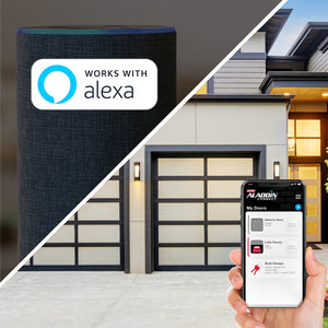 Works with Alexa- the QuietLift Connect smart garage door opener by Genie