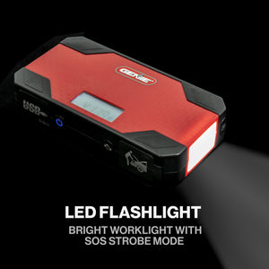 The Reliavolt Portable emergency tool comes with a LED flashlight with SOS strobe option