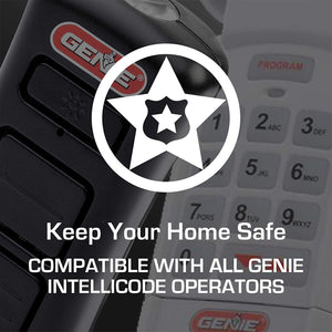 Intellicode technology is standard with all new Genie garage door openers and accessories