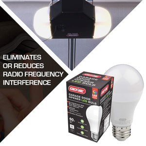 LED light bulb for the garage, eliminates or reduces radio frequency interference