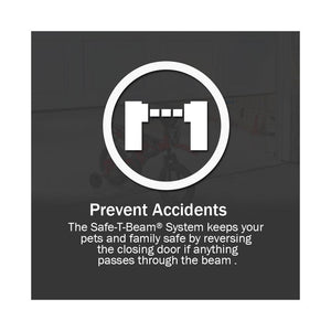 Prevent accidents with Genie saf-t-beams, come standard with all new Genie garage door openers