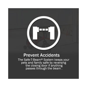 Prevent accidents with Genie garage door opener Safe-T-Beams that will not allow the door to close if anything is in the way