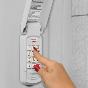 Universal Wireless Keypad for hanging outside the garage door