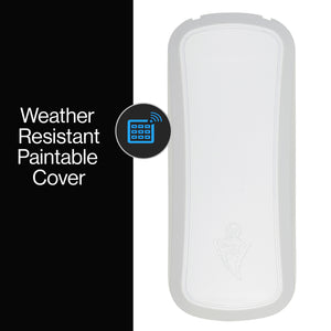 The Genie Wireless Keypad has a paintable weather resistant cover