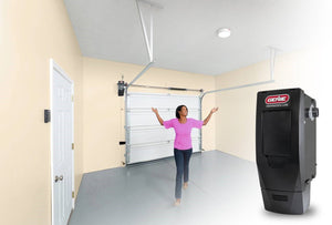 Wall mount garage door opener opens up overhead space in your garage