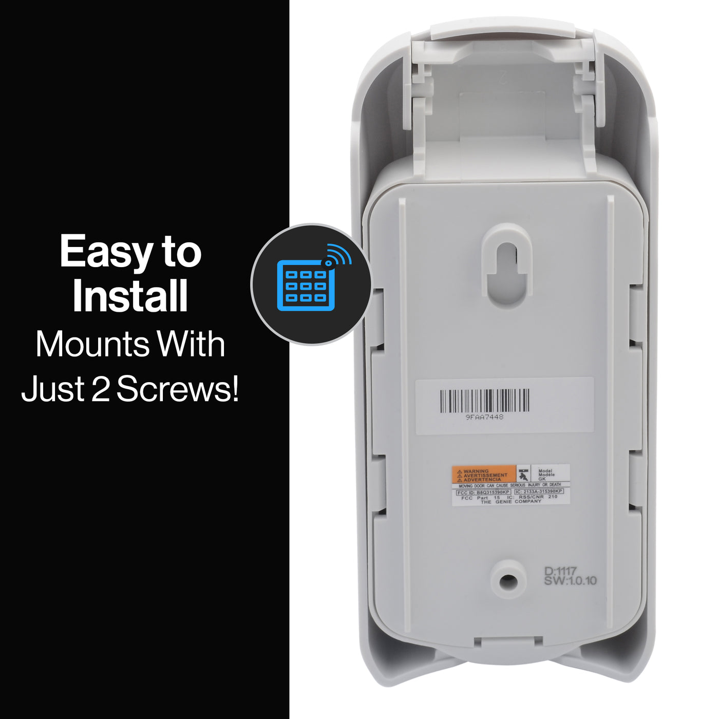 2 Pack Model GK-R Genie Garage Door Opener Wireless Keyless Keypad Compatible with All Genie Intellicode Garage Door Openers Safe /& Secure Access Easy Entry into The Garage with a PIN