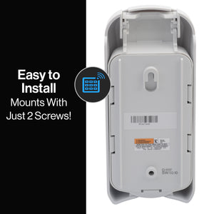 With just two mounting screws the Genie wireless keypad is easy to install